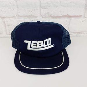 Vintage Original 1980's Zebco Fishing Trucker Hat